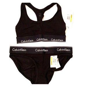 Calvin Klein bralette/bikini underwear set
